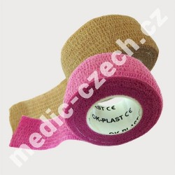 OK-plast 2 ks - náplast béžová a růžová (2,5x450)