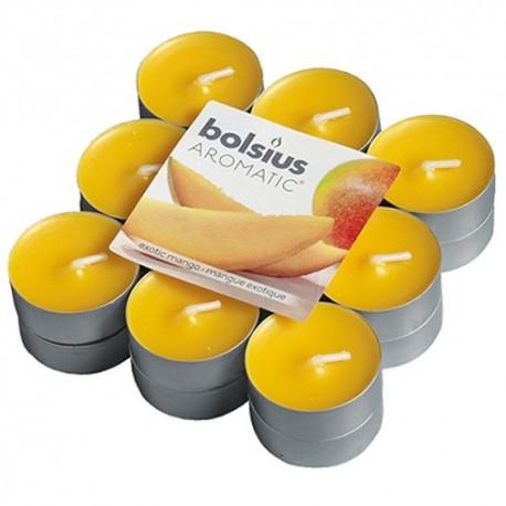 Čajové svíčky Bolsius - Mango (18 ks)
